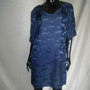 Navy Blue MARC by MARC JACOBS Vneck Shift dress S